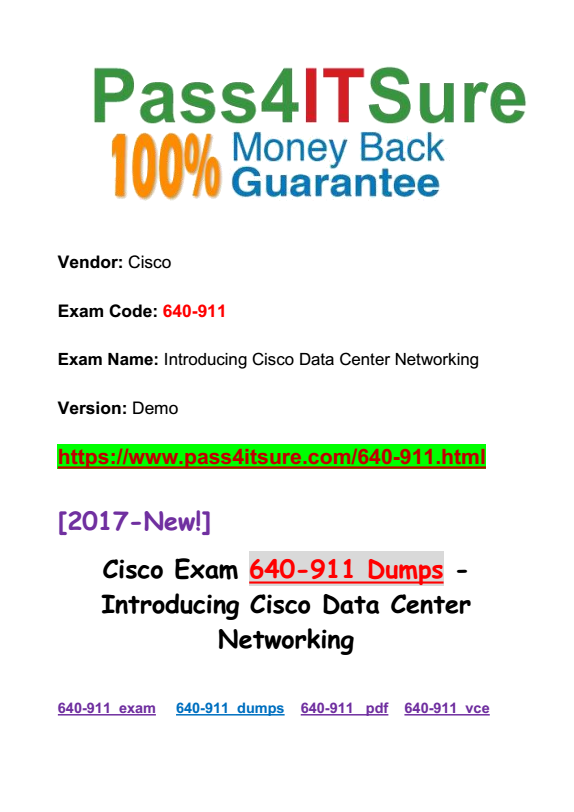 Latest Certification Center] Most Important Cisco DCICN 640-911 ...