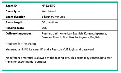 HPE2-E70