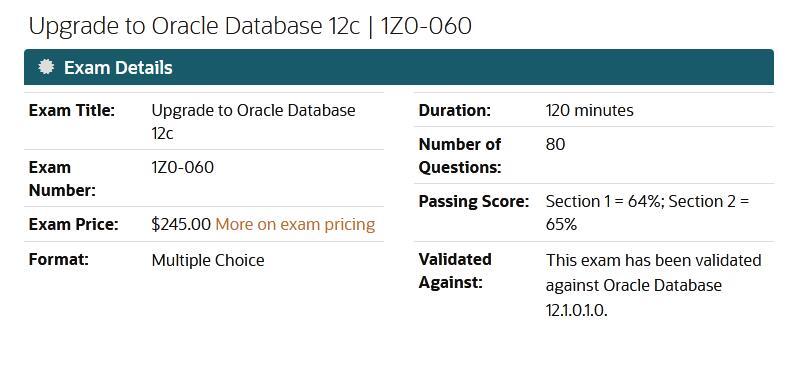 1ZO-060 Exam