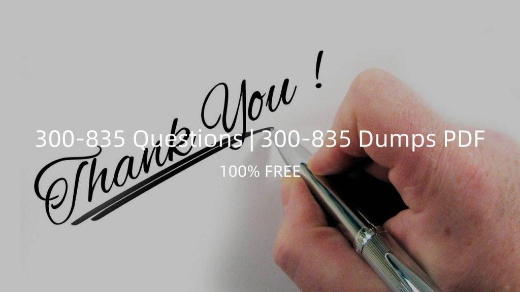 300-835 Dumps PDF Questions